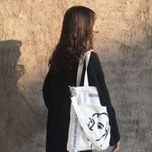 帆布包斜背包包女2019新款潮韓版簡約百搭文藝學生大容量單肩手提帆布袋 全網最低價