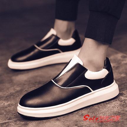 懶人鞋 男鞋秋季新款小白鞋男士運動休閒一腳蹬懶人潮鞋韓版潮流百搭 3色