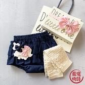 【日本製】日本製 禮品組 嬰兒 8ozDENIM 燈籠短褲 暖腿套 髮夾 深藍色 SD-1323 -