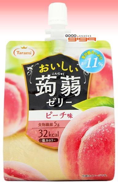 【吉嘉食品】日本Tarami達樂美 低卡蒟蒻果凍飲-水蜜桃 1包150公克[#1]{4955129012747}