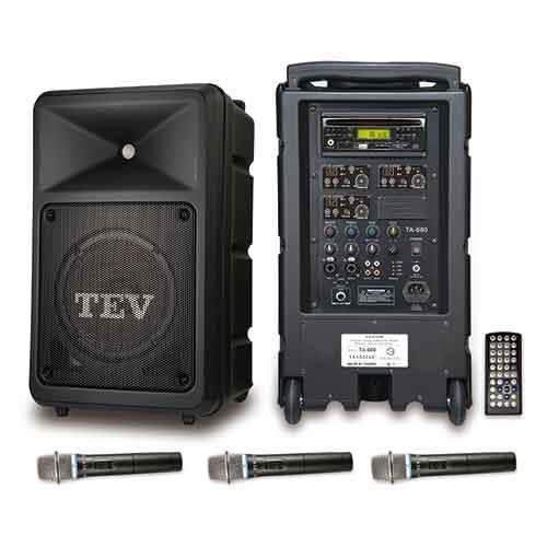 TEV DVD/CD/USB/SD三頻無線擴音機 TA680D-3