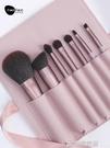 Fakeface化妝刷套裝刷子化妝工具散粉腮紅粉底刷唇刷7支全套  印象家品