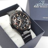 EDIFICE EFR-563DC-1A 低調沉穩計時男錶 防水手錶 日期視窗 黑x玫瑰金 EFR-563DC-1AVUDF CASIO卡西歐