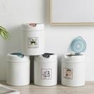 垃圾桶 床頭可愛迷你桌面小號垃圾桶家用帶蓋茶幾創意可愛桌上女辦公室台    英賽爾3C數碼店