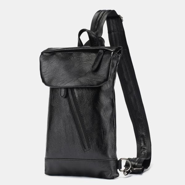 簡約男士小包新款皮質單肩包時尚街頭ipad斜跨包戶外后背包2020潮 後街五號