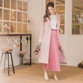東京著衣【YOCO】韓國女孩最愛後開岔口袋長大衣-S.M.L(172065)