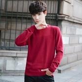 針織毛衣-圓領純色休閒薄款套頭男針織衫5色73pg36【巴黎精品】