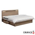 【采桔家居】安索拉 現代5尺雙人抽屜床台組合(床頭片+三抽床底+不含床墊)