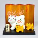 虎年限定 長壽紅梅 親子虎 日本正版藥師窯 陶製