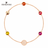 施華洛世奇 Remix Collection 玫金色橙紅漸層飾鏈