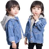 兒童牛仔外套連帽中小童短款百搭牛仔衣夾克-321寶貝屋