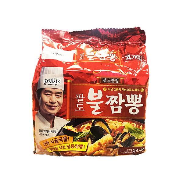 八道Paldo 金海鮮炒碼拉麵139gX4包(整袋裝)【小三美日】