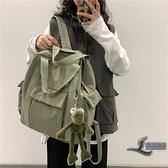 女士後背包多用大容量旅行帆布包包【邻家小鎮】