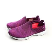 SKECHERS GOWALK SPORT 懶人鞋 運動鞋 休閒 舒適 好穿脫 針織鞋面 女鞋 紫色 14136PUR no577