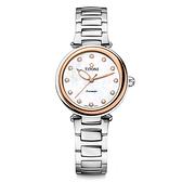 TITONI 梅花錶 炫美時尚之約械錶女錶-玫塊框x珍珠貝x銀/33.5mm 23978SRG-622