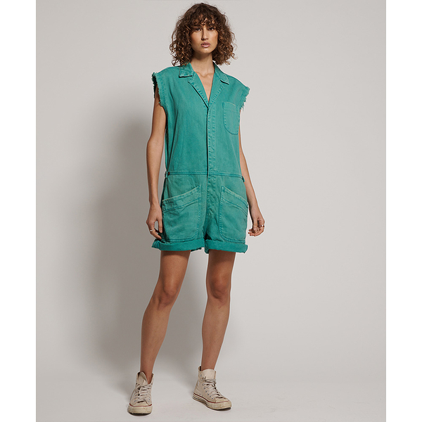 ONETEASPOON EMERALD SAFARI BANDIT OVERALL  短袖連身褲 -綠(女)