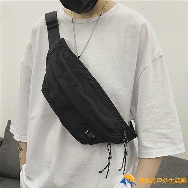 胸包男士運動學生單肩包休閑男生腰包斜跨小包