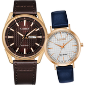 加碼第3年保固*CITIZEN 星辰 光動能情侶手錶 對錶/42+36mm AW0083-08X+EM0763-07A