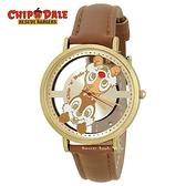 日本正版限定 SUN FLAME 迪士尼 奇奇蒂蒂 皮革時尚腕錶 / 手錶