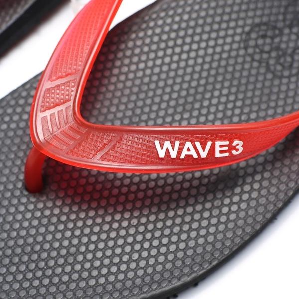 WAVE3 黑紅 果凍 夾腳 人字拖  海灘 拖鞋 男生 (布魯克林) 16100101