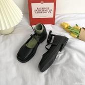 瑪麗珍鞋 黑色方頭瑪麗珍小皮鞋可愛女日系jk英倫風夏季薄款學生韓版百搭單 愛麗絲