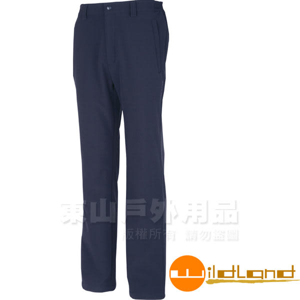 Wildland 荒野 W2310-72深藍色 男 Softshell保暖長褲