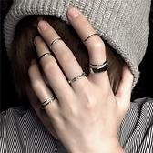 戒指女復古素圈冷淡風小眾關節戒套裝簡約指環【聚寶屋】