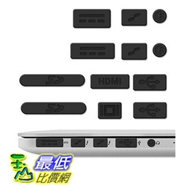 [105美國直購] kwmobile Anti-dust 插槽保護組 防塵塞 protection set for Apple MacBook Pro 13 15 Retina/Air 11 13