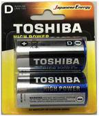東芝搖滾鹼性1號2入電池