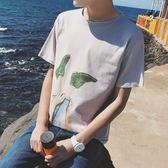 短袖t恤男潮打底衫大碼半袖韓版夏季上衣夏裝衣服寬鬆男士體恤衫   初見居家