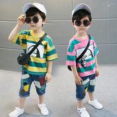 童裝男童寶寶套裝夏裝2018年夏季新款短袖兩件套運動T恤韓版休閒·Ifashion