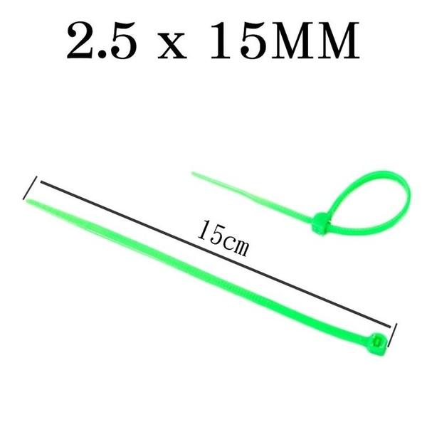 【JIS】N400 園藝束帶 100入/包 綠色束帶 15cm 理線帶 束線帶 扎線帶 紮線帶 固定帶 綑綁帶