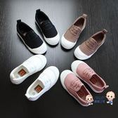 帆布鞋 兒童帆布鞋男童一腳蹬懶人童鞋女童布鞋2019春秋新款兒童小白鞋潮 多色