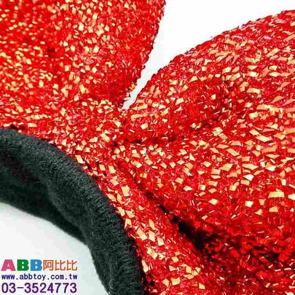 A0063★米妮蝴蝶結髮圈_紅_30cm#舞會面具面罩眼罩頭套眼鏡生日帽派對帽臉彩畫臉筆假髮髮圈髮夾