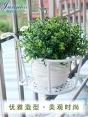 花架歐式鐵藝護欄花架掛式吊蘭綠蘿陽台欄桿懸掛花盆架客廳窗戶花架子【快速出貨】