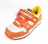 MIZUNO美津濃 童鞋 促進發育鞋墊 魔鬼氈 布鞋 BEADS KIRARA K1GD163554(橘紅/米黃)[陽光樂活]