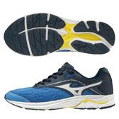 MIZUNO WAVE RIDER 23 JR 童鞋 大童 女鞋 慢跑 路跑 橡膠 耐磨 避震 藍【運動世界】K1GC193303
