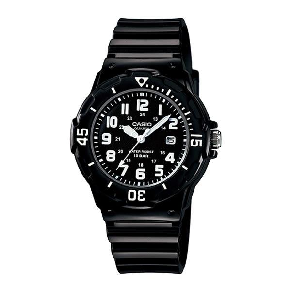 CASIO卡西歐 LRW-200H-1B 指針錶 黑面 數字時刻 日期顯示 38mm 女錶/青少/兒童 LRW-200H-1BVDF
