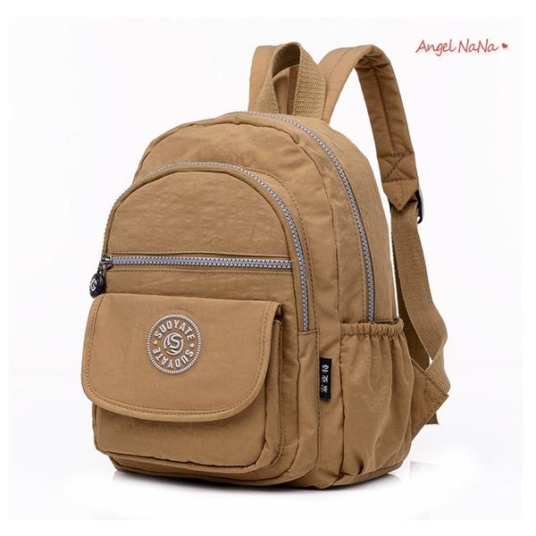 後背包。超輕量防潑水尼龍水洗布雙肩包(小) (SBA0362) AngelNaNa