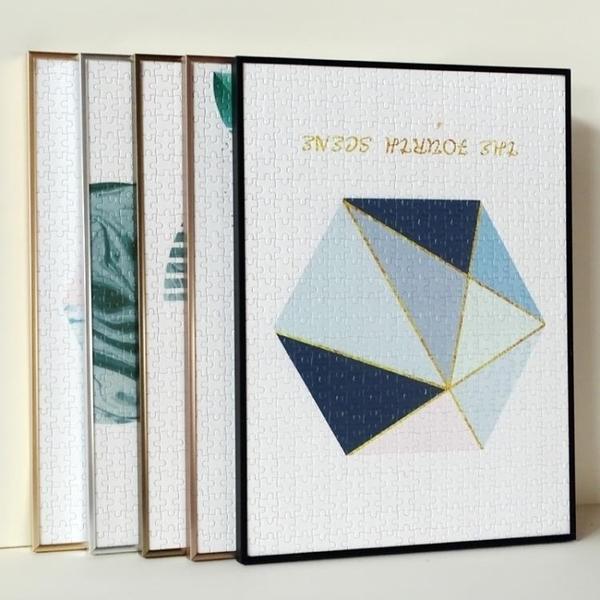 窄邊拼圖相框鋁合金相框畫框300片500片1000片2000片拼圖框 一木良品