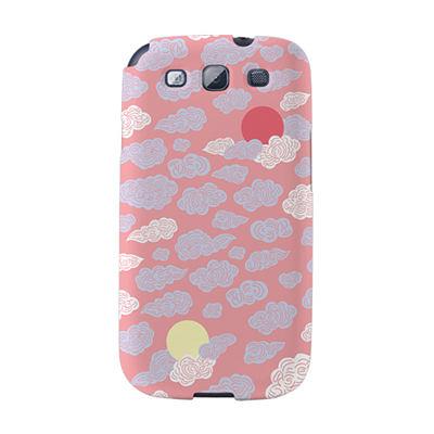 【韓國正品Makase】※Dragon&clouds_B※ SAMSUNG Galaxy S3 i9300 質感手機保護殼 附贈胸針及簡易立架
