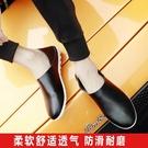 懶人鞋 鞋子男新款男士廚師鞋韓版百搭個性休閒皮鞋鞋男鞋 【快速出貨】