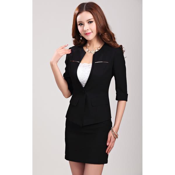 OL套裝女-職業西裝外套+窄裙