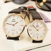手錶韓版時尚簡約休閒大氣潮手錶男女士學生防水情侶女錶超薄男錶石英 聖誕交換禮物