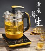 養生壺 養生壺全自動加厚玻璃燒水壺多功能花茶黑茶熱奶煲湯煮蛋器煮茶壺 玩趣3C