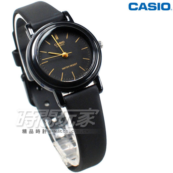 CASIO卡西歐 LQ-139AMV-1E 復古簡約小圓錶 橡膠錶帶 黑x金色 LQ-139AMV-1ELDF 防水手錶 兒童 女錶