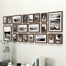 客廳實木照片牆裝飾相框 牆挂組合臥室相片背景牆相冊框 【店長推薦】  快速出貨