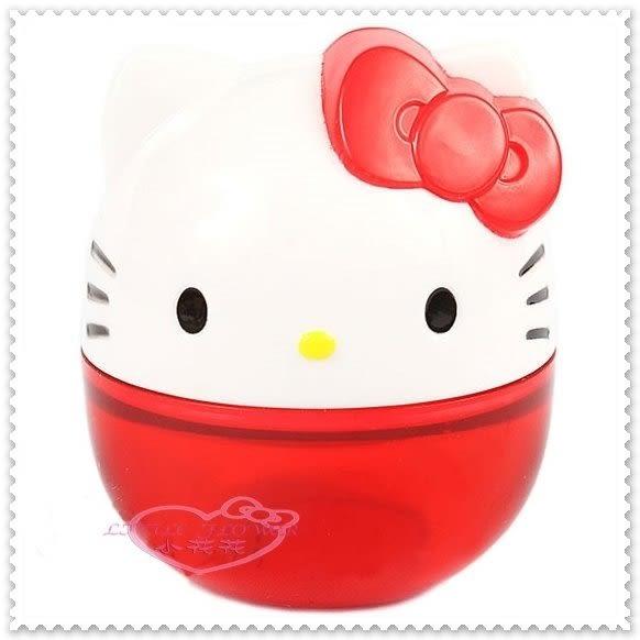 ♥小花花日本精品♥Hello Kitty臉頭立體造型可立式 紅色 迷你 削鉛筆機 攜帶型 62017305