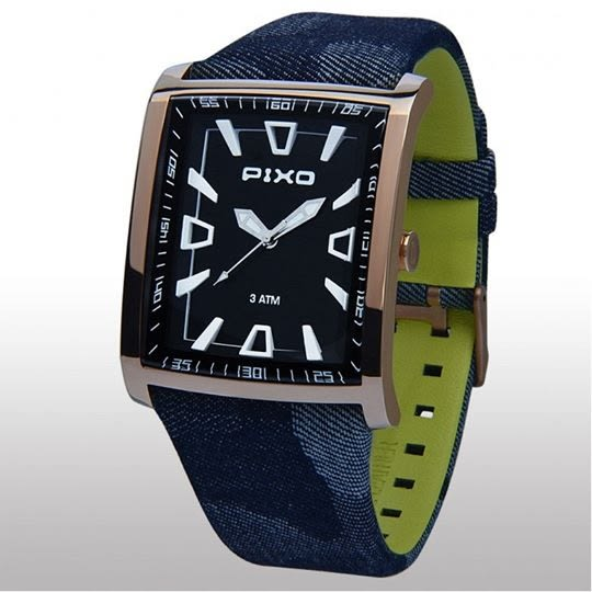 PIXO 德國潮錶-PX-12 潮流方形錶BLACK F2男錶女錶對錶
