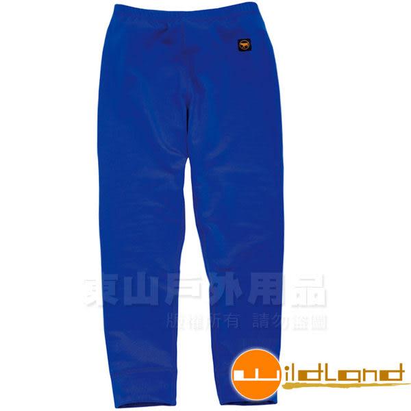 Wildland 荒野 W2681-77中藍色 童 遠紅外線彈性保暖褲